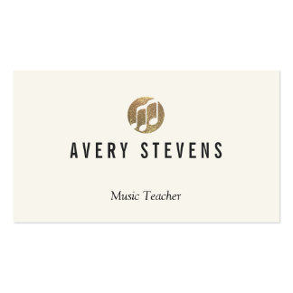 Music Teacher, Music Notes, Musician Business Card Template