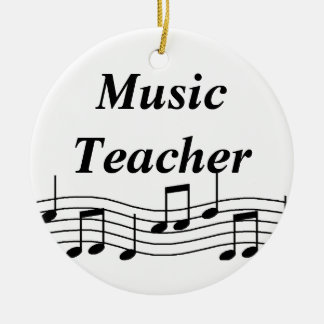 Music Teacher Musical Notes Ceramic Ornament