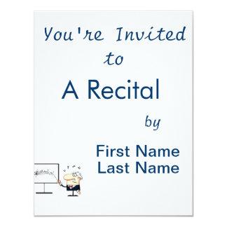"music teacher older man graphic 4.25"" x 5.5"" invitation card"