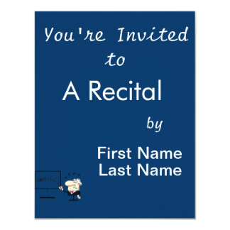 music teacher older man graphic 11 cm x 14 cm invitation card