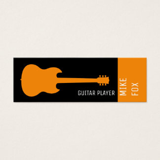 music teacher professional guitar mini business card