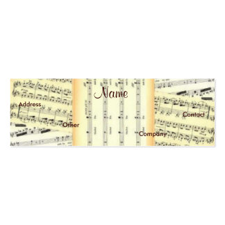 Music Teacher Profile Card - Customizable Business Card