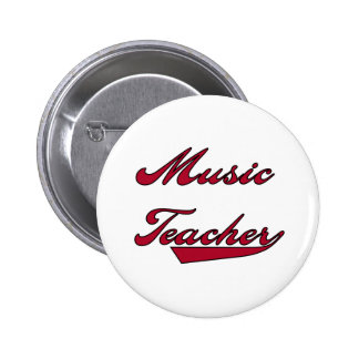 Music Teacher Red Tshirts and Gifts Buttons