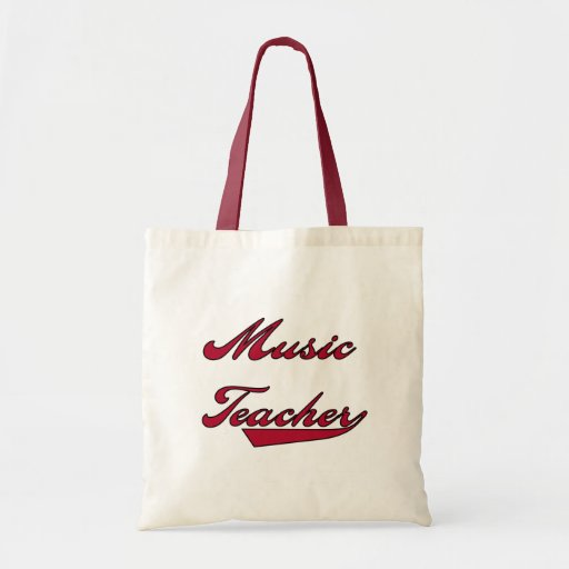 Music Teacher Red Tshirts and Gifts Canvas Bags