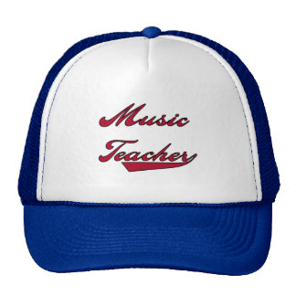 Music Teacher Red Tshirts and Gifts Trucker Hats