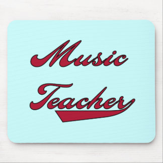 Music Teacher Red Tshirts and Gifts Mouse Pads