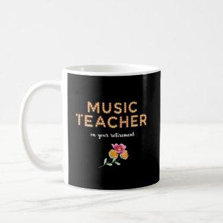 Music Teacher Retirement Marquee Light Bulb Letter Coffee Mug