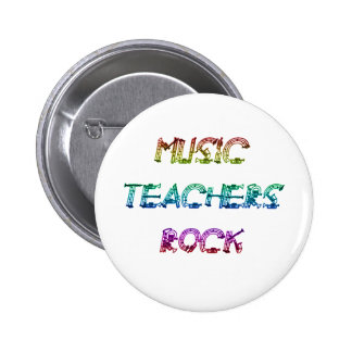 MUSIC TEACHER ROCK 2 6 CM ROUND BADGE