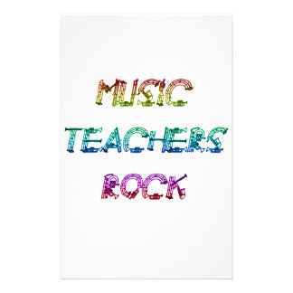 MUSIC TEACHER ROCK 2 PERSONALIZED STATIONERY