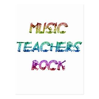 MUSIC TEACHER ROCK 2 POSTCARD