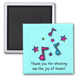 Music Teacher Thank You Square Magnet