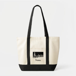 Music Teacher Tote Bag Template