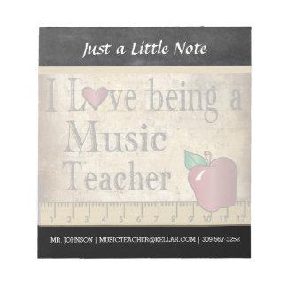 Music Teacher | Vintage Style Notepad