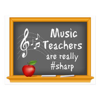 Music Teachers are Really # Sharp Postcard