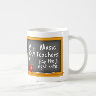 Music Teachers Play the Right Note Coffee Mug