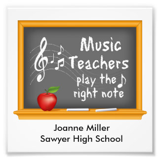 Music Teachers Play the Right Note Photo Print