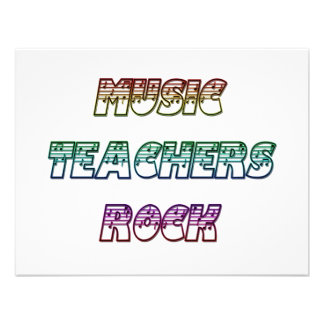 MUSIC TEACHERS ROCK INVITATIONS