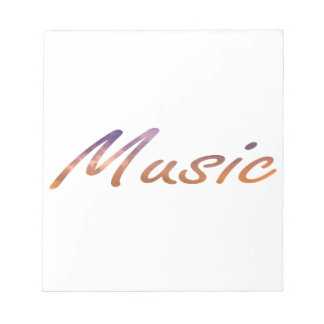 music text purple orange clouds notepad