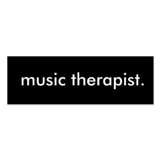 music therapist. business cards