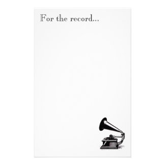 Music To Our Ears Stationary Custom Stationery