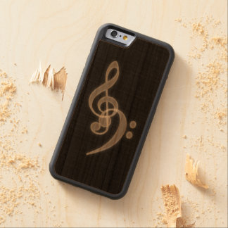 Music - Treble and Bass Clef Cherry iPhone 6 Bumper Case