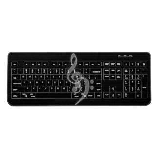 Music - Treble and Bass Clef Wireless Keyboard
