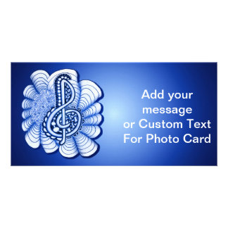 Music Treble Clef Decorative and Personalizable Custom Photo Card
