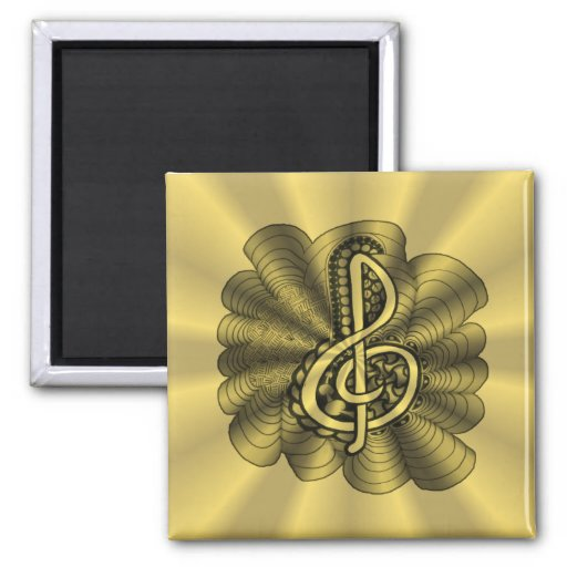 Music Treble Clef Gold Customized Magnet