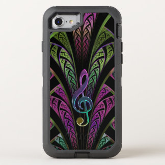 Music Treble Clef Purple and Green Fractal iPhone
