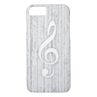 Music Treble Clef Rustic Wood Musical iPhone 8/7 Case