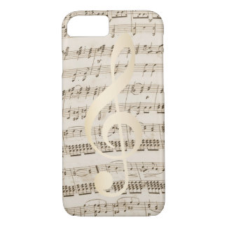 Music Treble Clef Vintage Musical iPhone 7 Case