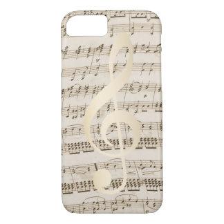 Music Treble Clef Vintage Musical iPhone 8/7 Case