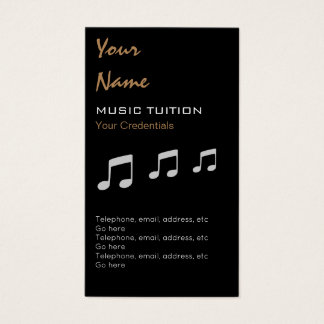 Music Tutor Appointment Business Cards
