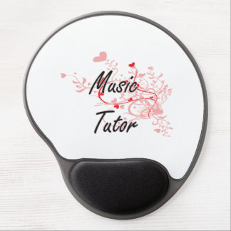 Music Tutor Artistic Job Design with Hearts Gel Mouse Pad