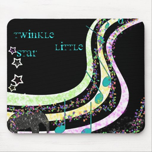 Music, Twinkle, Little, Star Mouse Pads