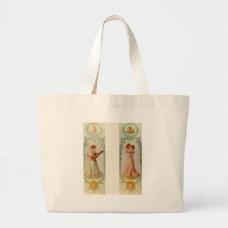 Music (two paintings) by Pierre-Auguste Renoir Jumbo Tote Bag