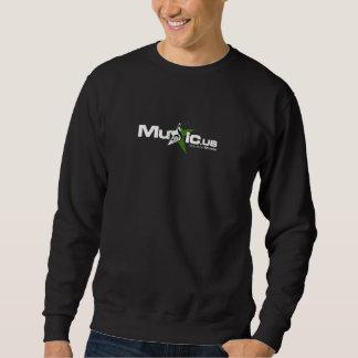 Music.us Black Sweat - White Green Logo Sweatshirt