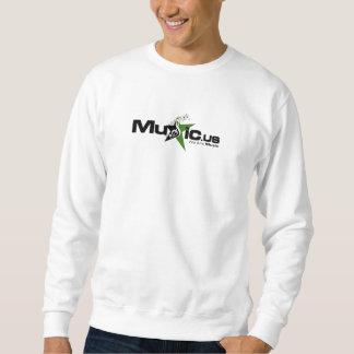 Music.us White Sweatshirt - Black / Green Logo
