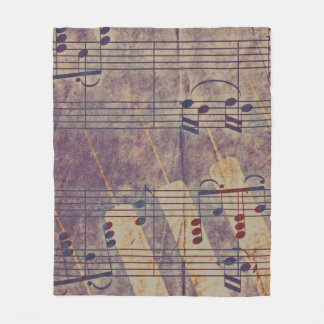 Music, vintage look B Fleece Blanket