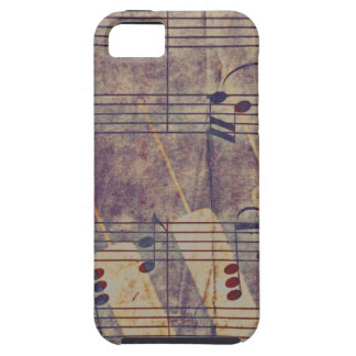 Music, vintage look B iPhone 5 Cases