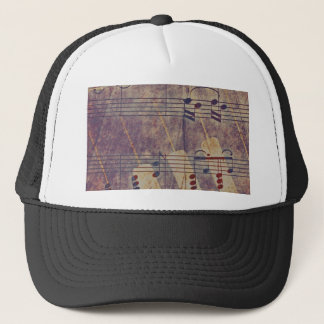 Music, vintage look B Trucker Hat