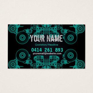 Music Vinyl Circles Business Card