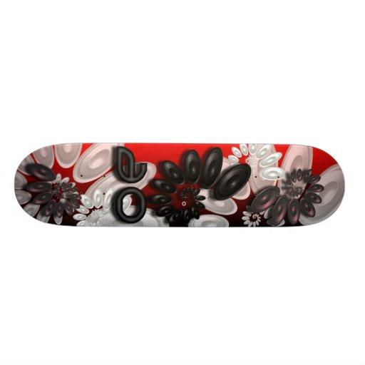 Music Vortex 3.1 Red Skateboard