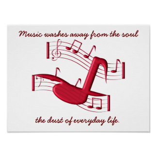 Music washes away - poster