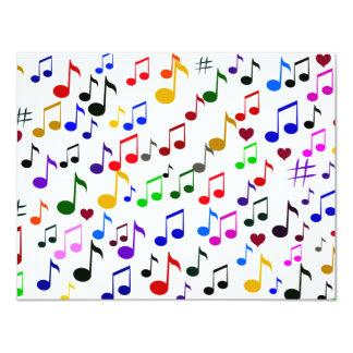 Music with Love_ 11 Cm X 14 Cm Invitation Card