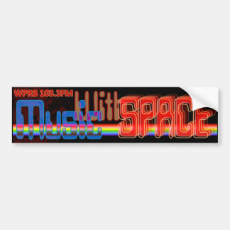 Music With Space -OfficalRadio Show Logo Bumper Sticker