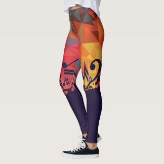 Musical Abstract Leggings