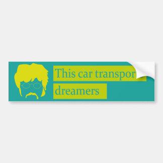 Musical adhesive bumper sticker