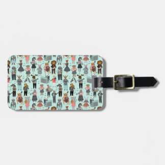 Musical Animal Alphabet - Blue / Andrea Lauren Luggage Tag
