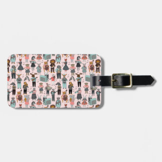 Musical Animal Alphabet - Pink / Andrea Lauren Luggage Tag